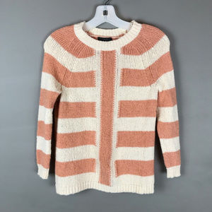 J. Crew Peach/Cream mixed stripe sweater sz XS